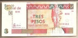 Cuba  Banconota Circolata Da 3 Pesos Convertibili - 2007 - Cuba