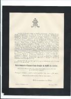Annonce/Marie Antoinette Clémence Fanny Joséphe De Badts De Cugnac /26 Ans //1894  FPD54 - Décès