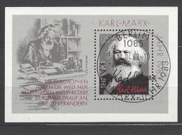 DDR - Block Nr. 71 - 100. Todestag Von Karl Marx Ersttags - Gestempelt - Blocs