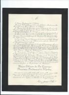Annonce/Marie Thérése De La Grange , Baronne Ferdinand De L'Epine/37 Ans /Chateau De Rouzel/Somme/1894  FPD56 - Décès