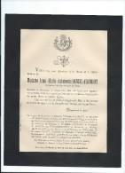 Annonce/Anna Marie Antoinette Danzel D' Aumont /Religieuse Du Sacré Coeur De Jésus/25 Ans /Beauvais /1893  FPD57 - Décès