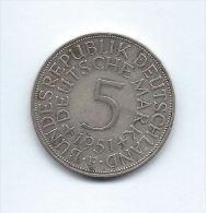 Allemagne, République Fédérale, 5 Deutsche Mark 1951 F (Stuttgart), KM 112.1 - [ 6] 1949-1990 : RDA - Rép. Démo. Allemande