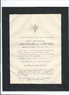 Annonce Messe/Monsieur Marie Joseph Henri Le Bachalier De La Riviére/  /21 Ans /Hopital Militaire/Rouen/1893  FPD59 - Décès