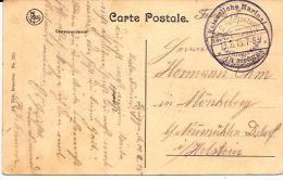 BRUGGE  FELDPOSTSTEMPEL KAISERLICHE MARINE 1915 WEZEMBEEK KASTEEL  Re829 - Brugge