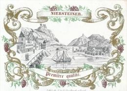 !!! PORSELEINKAART 11 X 8 CM - NIERSTEINER - PREMIERE QUALITE  ( WIJN ) - Bingen