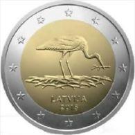 LATVIA EURO - 2 Euro 2015 Stork (from Bank-Roll) - Latvia