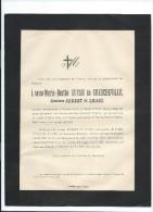 Annonce Messe/Louise Marie Berthe  Guyon De Guercheville, Comtesse Robert Du Luart/44 Ans /Hyéres/Var /1894   FPD61 - Décès