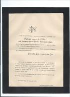 Annonce Messe/Madame Veuve De Crény, Née Louise Caroline Amélie De Caqueray/72 Ans/Chateau De Saint Quentin/1894   FPD62 - Décès