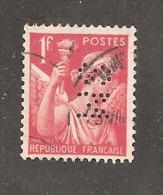 Perforé/perfin/lochung France No 433 SM  Sté Marseillaise De Crédit - France