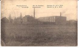 WERVIK WERVICQ  FRANCE KOMENSTRAAT FABRIEK S & L DALLE FELDPOST 1916  Re 955 /d4 - Wervik