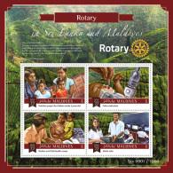 Maldives 2015 Rotary International In Sri Lanka & Maldives S/S MLD151309 - Famous People