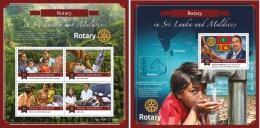 Maldives 2015 Rotary International In Sri Lanka & Maldives MS+S/S MLD151309 - Famous People