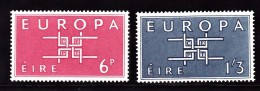 Ireland Scott  188-89  Europa Mint NH VF  CV $ 4.75 - 1949-... Republic Of Ireland