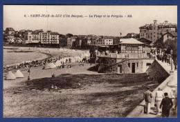64 SAINT JEAN DE LUZ La Plage Et La Pergola ; Cabines - Animée - Saint Jean De Luz