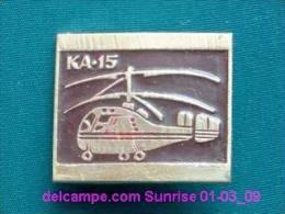"""Soviet Helicopter """"KA-15"""" / Soviet Badge 01-03_1031_09 - Fesselballons"""