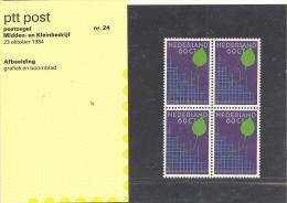 R Postzegelmapje 24 - Midden En Kleinbedrijf 23-10-1984 - Neufs