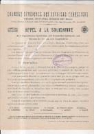 Alger--mustapha--hussein Dei---algerie---chambre Syndicale Des Ouvriers Tonneliers - Vieux Papiers
