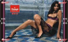 N01417 China Phone Cards Triumph Lady Puzzle 4pcs - Erotique (Adultes)