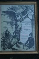 87 - LE VIGEN SOLIGNAC-RARE GRAVURE COMMEMORATIVE A M. MARTIAL ROUILHAC-ANCIEN COMBATTANT GUERRE 1870- CHAFFIOL PARIS - Diplômes & Bulletins Scolaires