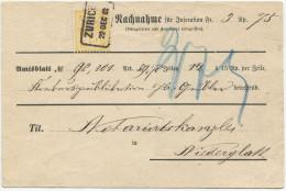 466 - 15 Rp. WERTZIFFER (weisses Papier) Auf NN-Karte - 1882-1906 Armoiries, Helvetia Debout & UPU