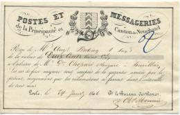 456 - Post-Schein Von 1846 Aus NEUCHATEL