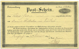 462 - St. Galler Post-Schein 1843 - RORSCHACH - Entiers Postaux