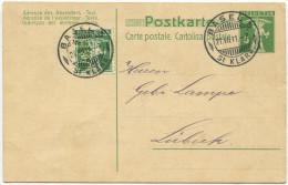 453 - Perfin H&C Als Zusatzfrankatur Auf Postkarte - Suisse