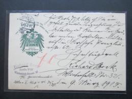 Postkarte 1915 Allgemeiner Deutscher Sprachverein. Schöne PK. Richard Bock Berlin W 57 - Briefe U. Dokumente