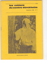 Revue Cahiers Durckheim -psychologie Politique Spiritualite -sept 1983 N° 7 Maitre Morihei Ueshiba - Livres, BD, Revues