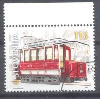 Slowenien Slovenia Slovenie 2001 Used CTO; Vehicle, Tram, 100th Anniversary Of Arrival Of The First Tram To Ljubljana - Tranvie
