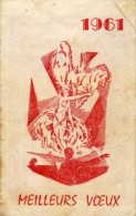 Meilleurs Voeux 1961 - Danseuse Au Seins Nus Style Casino De Paris -érotique - Petit Format : 1961-70