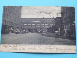 PENNSYLVANIA Depot, From Exchange Place ( Station / Gare ) JERSEY CITY N. J. - Anno 1907 ( Zie Foto´s Voor Details ) !! - Etats-Unis