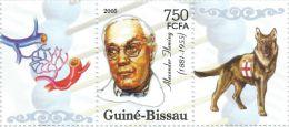 Guinea Bissau Alexander Fleming Nobel Prize Medicine Dog 1 Stamp + Tab 302 - Famous People