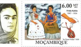 Mozambique Frida Kahlo Paintings Mexico Painter Surrealism 1v Stamp MNH 509 - Famous People