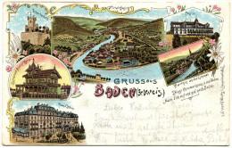 568 - Gruss Aus Baden (Schweiz) - Litho - AG Argovie