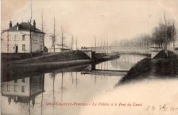 08 Chateau Porcien La Villette Et Le Pont Du Canal Carte Precurseur - Chateau Porcien