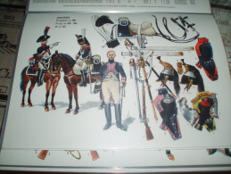 Militaria - Uniformes - PLANCHE DE RIGO :  COLLECTION LE PLUMET : Serie U : N° 11 - Cuirassiers 1ém Régiment En 1801 - Uniforms