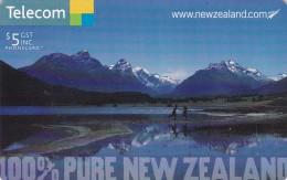 New Zealand, Chipcard Nr 162, 2005 100% Pure New Zealand, Lake Diamond, 2 Scans. - Nueva Zelanda