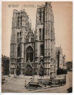 BELGIQUE . BELGIË . BRUXELLES . ÉGLISE Ste-GUDULE . BRUSSELS . CHURCH OF St-GUDULE . GRAND FORMAT - Réf. N°342 F - - Monuments