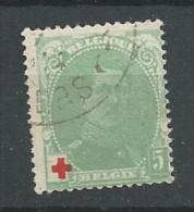 1914 USED Belgium, België, Belgique - 1914-1915 Red Cross