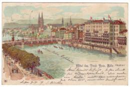 509 - Hotel Des Trois Rois, Bale - Litho - BS Basel-Stadt