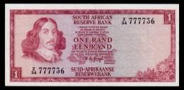 South Africa 1 Rand 1975 P.115b Replacement XF- - South Africa