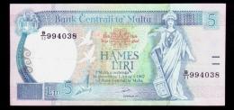 Malta 5 Lira 1989 P.42 XF- - Malta