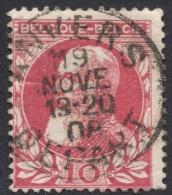 Belgium,  10 C. 1905, Sc # 85, Mi # 71, Used. - 1905 Thick Beard