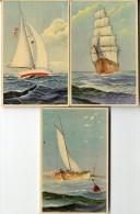 VOILIER  3 CARTES ANCIENNES  TRES BELLE ILLUSTRATION  -  EDITION BELGE - Sailing Vessels