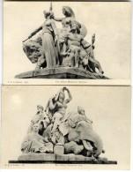 LONDRES  LONDON  THE ALBERT MEMORIAL ASIA & AMERICA   -  2  CARTES ANCIENNES - London