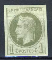 Colonie Francesi, Emissioni Generali  1871-72 N. 7 C. 1 Verde Oliva MH - Napoleon III