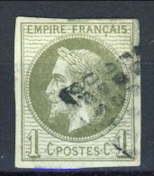 Colonie Francesi, Emissioni Generali  1871-72 N. 7 C. 1 Verde Oliva Usato - Napoleon III