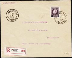 1935. 5 Fr. Albert I. BRUXELLES 26 I 1935. Rec. To LUXEMBURG VILLE 27.1.35. (Michel: 183) - JF182097 - Belgien