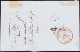 1857. 20 C. Leopold 9 + AUDENAERDE 10 JAN . To TOURNAY 11 JAN 1857.   (Michel: 4B) - JF182112 - Belgien